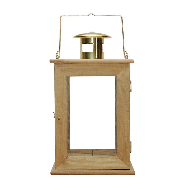 Natural Teak Large Garden Lantern Free Shipping On Orders Over