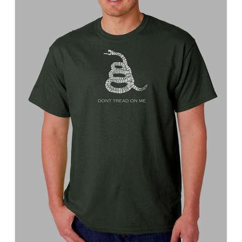 Los Angeles Pop Art Men's Don't Tread On Me T-shirt