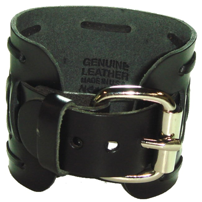 Nemesis Wide X Black Leather Band