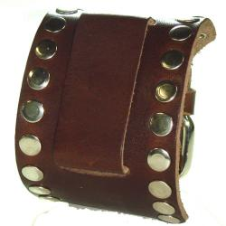 Nemesis XL Studs Brown Leather Band