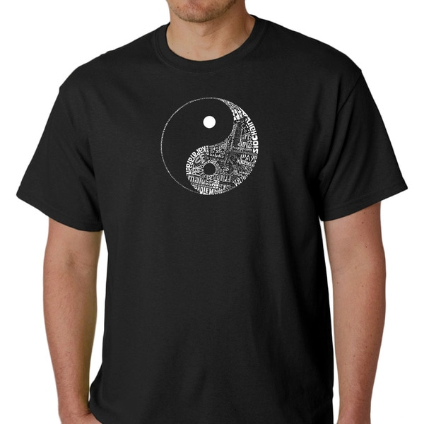 Los Angeles Pop Art Men's Yin Yang Shirt. Opens flyout.