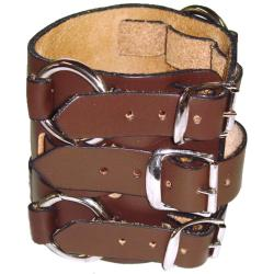 Nemesis WB Wide Detailed Brown Leather Band - Thumbnail 1
