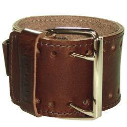 Nemesis XL Stitch 1.75-inch Contemporary Brown Leather Watch Band - Thumbnail 1