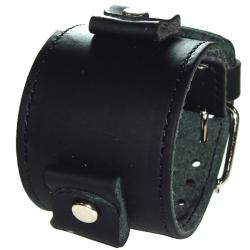 Nemesis XL Stich Black on Black Leather Band