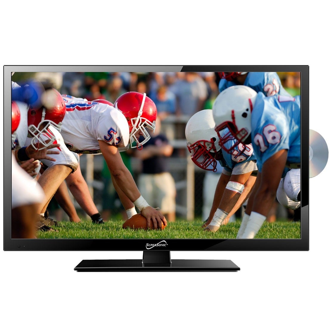 Supersonic SC-1912 19 in. Widescreen LED HDTV with Built-in DVD Player