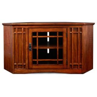 mission oak 46inch corner tv stand u0026 media console