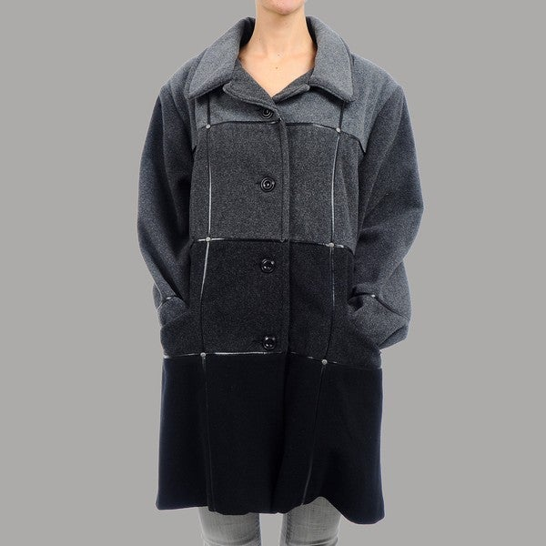 Nuage Women's Plus Size Messina Short Wool Coat
