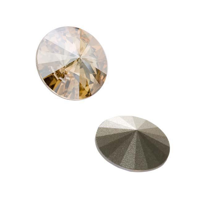 Beadaholique Crystal Golden Shadow 18mm Rivoli