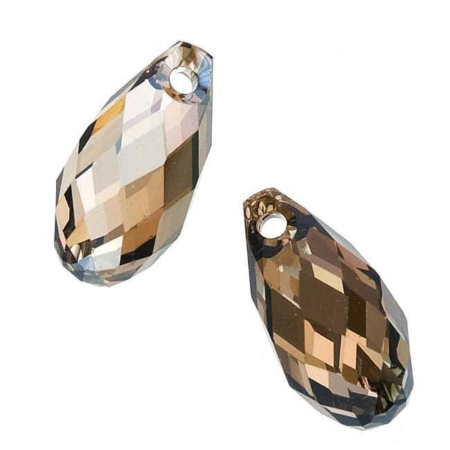 Beadaholique Crystal Bronze Shade 11mm Side Drilled Briolette