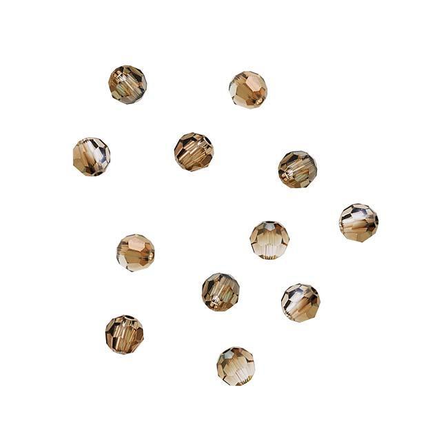 Beadaholique Crystal Bronze Shade 4mm Round Bead