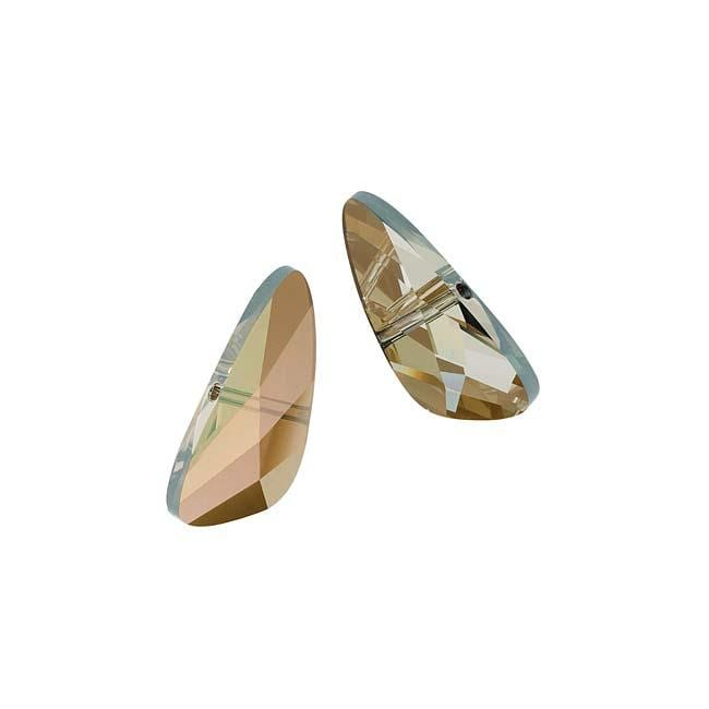Beadaholique Crystal Bronze Shade 18mm Wing Bead
