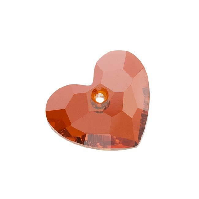 Beadaholique Crystal Red Magma 18mm Truly in Love Heart Pendant