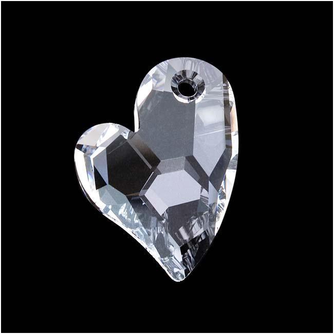 Beadaholique Crystal 27mm Devoted 2 U Heart Pendant
