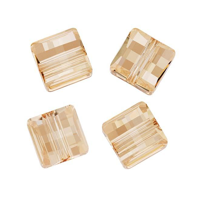 Beadaholique Crystal Golden Shadow 10mm Stairway (Square) Bead