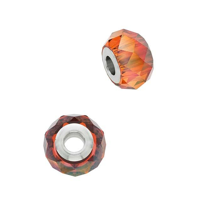 Beadaholique Crystal Red Magma 14mm BeCharmed Briolette Bead
