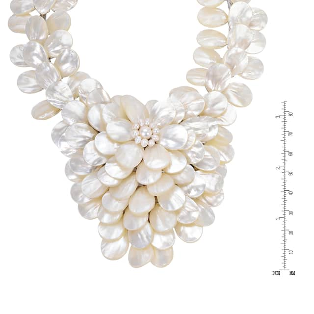 Exquisite Focus Mother of Pearl & Pearls Jewelry Set