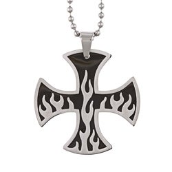 Stainless Steel Men's Baron Cross Necklace