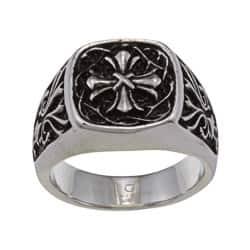 Stainless Steel Mens Cross Ring