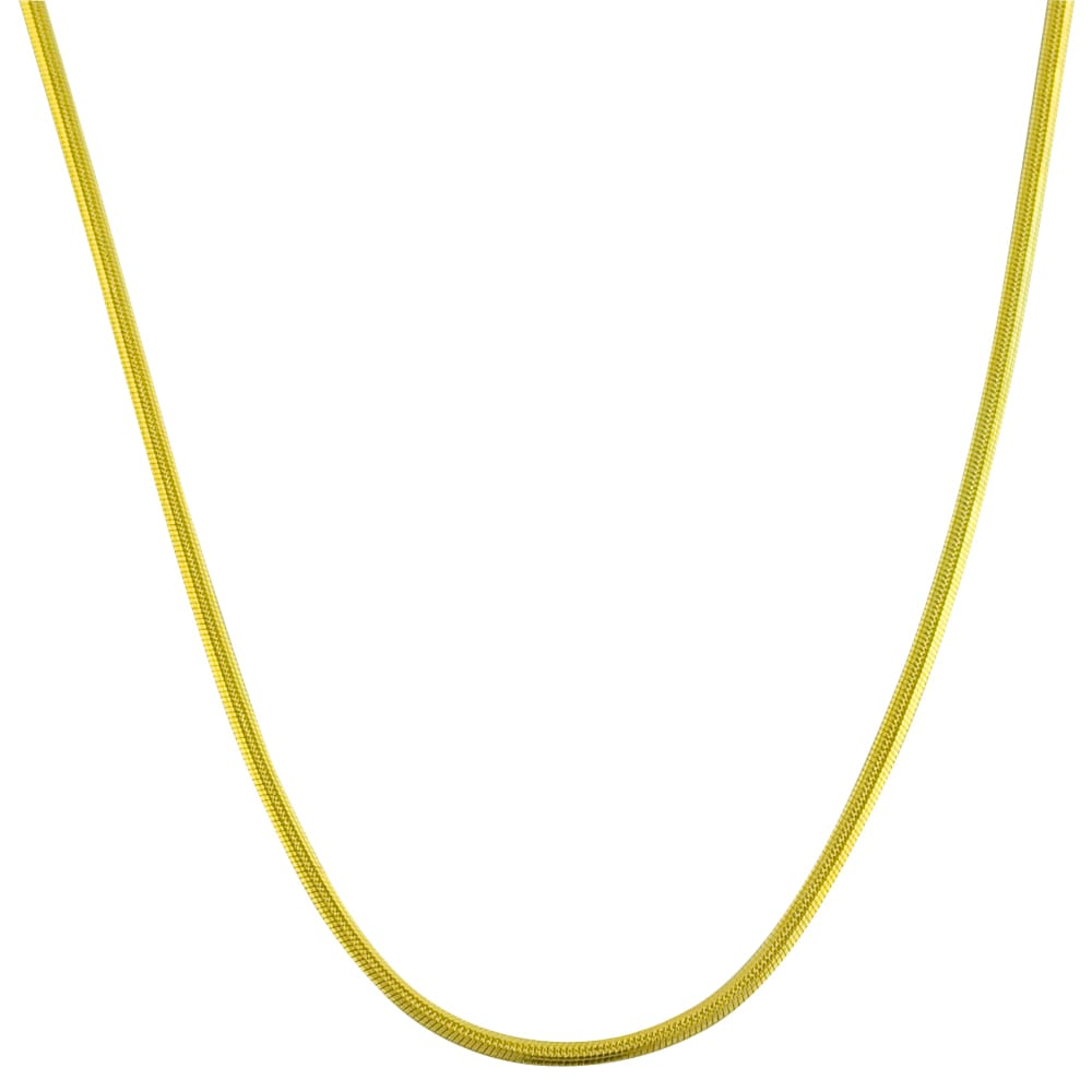 Fremada 14k Yellow Gold 18-inch Snake Chain Necklace