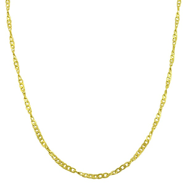 Fremada 14k Yellow Gold Flat Cable Chain Necklace (18 - 24 inch)