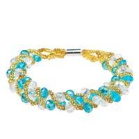 Handmade Shiny Crystal Weave Tube Magnetic Bracelet (Philippines)