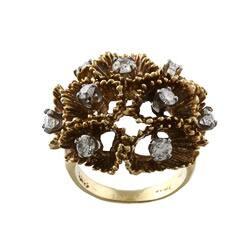 Pre-owned 18k Yellow Gold 1 1/10ct TDW Diamond Freeform Ring (I-J, SI1-SI2)|https://ak1.ostkcdn.com/images/products/6059313/18k-Yellow-Gold-1-1-10ct-TDW-Diamond-Freeform-Ring-I-J-SI1-SI2-P13734685.jpg?impolicy=medium