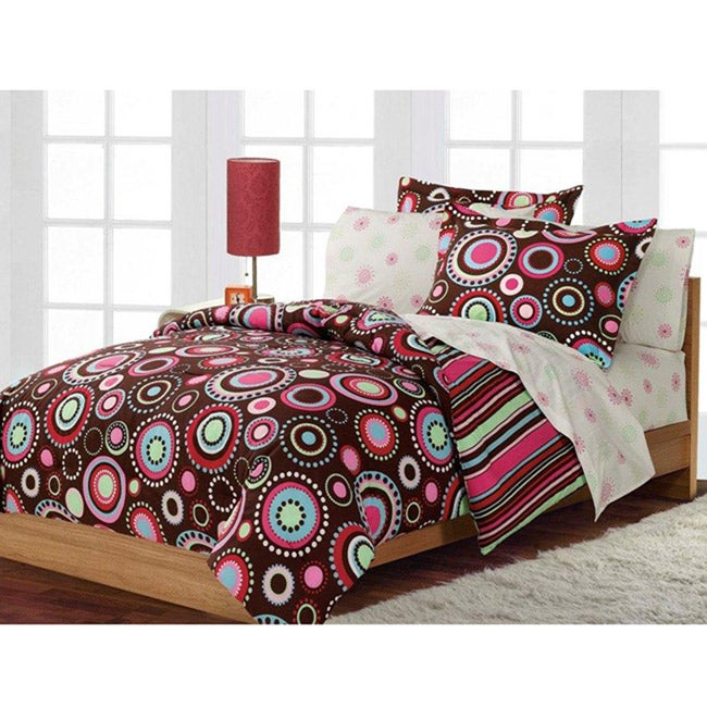 Gypsy 5-piece Twin-size Bed in a Bag with Sheet Set - Thumbnail 0