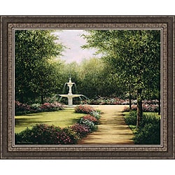 Lene Alston Casey 'Park Fountain' Framed Print Art