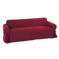 Plush Velvet Loveseat Slipcover