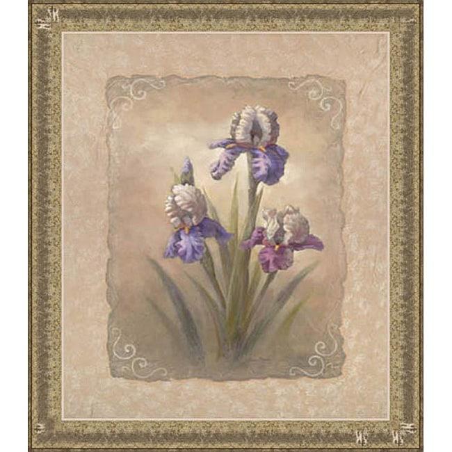 Vivian Flasch 'Iris Scroll' Framed Print Art