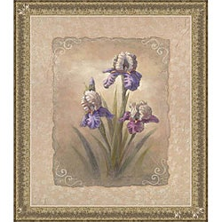 Vivian Flasch 'Iris Scroll' Framed Print Art - Thumbnail 0