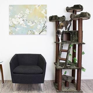 Redwood 75-inch Dark Brown Cat Tree Furniture https://ak1.ostkcdn.com/images/products/6059408/P13734766.jpg?impolicy=medium