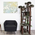 Redwood 74-inch Dark Brown Cat Tree Furniture
