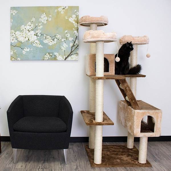 """Kitty Mansions 73"""" Beverly Hills Cat Tree"""