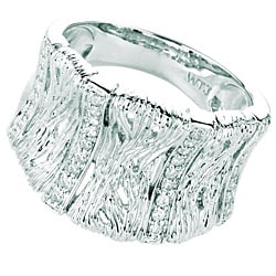 Sterling Silver 1/10ct TDW Diamond Band (H-I, I1-I2) - Thumbnail 1