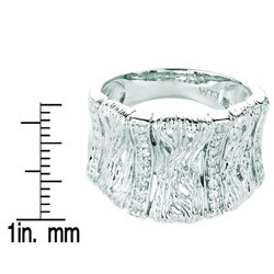 Sterling Silver 1/10ct TDW Diamond Band (H-I, I1-I2) - Thumbnail 2