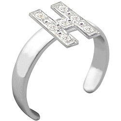 10k Gold Initial 'H' Diamond Accent Toe Ring (G-H, SI2-I1)