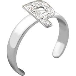 10k Gold 'P' Diamond Accent Toe Ring (G-H, SI2-I1)