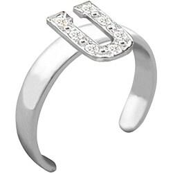 10k Gold 'U' Diamond Accent Toe Ring (G-H, SI2-I1)