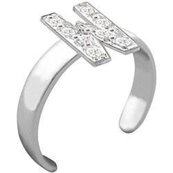 10k Gold 'W' Diamond Accent Toe Ring (G-H, SI2-I1) - Thumbnail 1