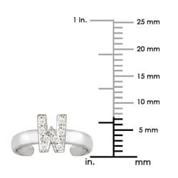 10k Gold 'W' Diamond Accent Toe Ring (G-H, SI2-I1) - Thumbnail 2