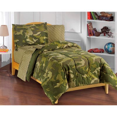 Dream Factory Geo Camo Full 7-piece Bed in a Bag with Sheet Set