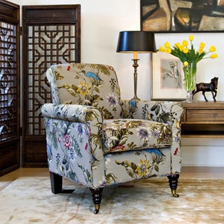 Handy Living Harlow Antique Floral Bird Arm Chair