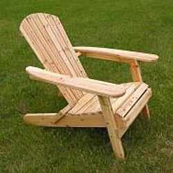 Deluxe Natural Adirondack Clear Seal Coated Folding Chair - Thumbnail 1