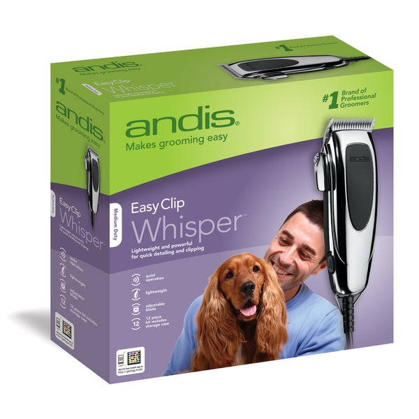 Andis EasyClip Whisper 12-piece Clipper Kit