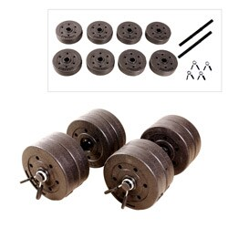 CAP Barbell 40 lb Cement Dumbbell Set