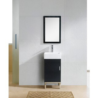 Fine Fixtures Fashion Single-Drawer Black-and-White Wood/Ceramic Vanity