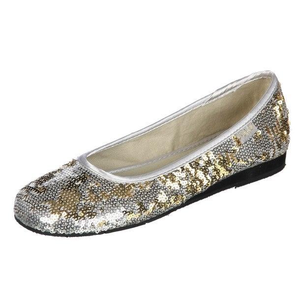 b00696594f123 Silver sequin women39s ballet slippers Silver sequin ballet slippers for
