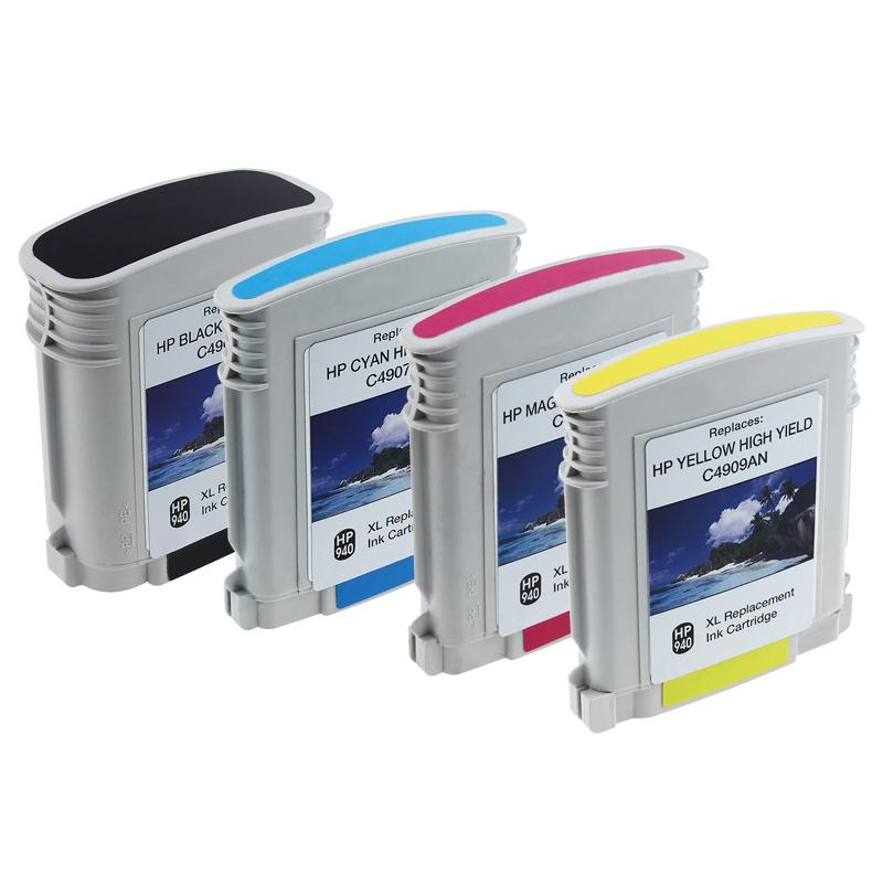 INSTEN 4-piece HP 940XL Black/ Cyan/ Magenta/ Yellow Ink Cartridge (Remanufactured)
