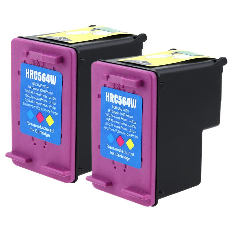 INSTEN 2-pack HP 61XL (CH564WN) Color Ink Cartridge (Remanufactured)
